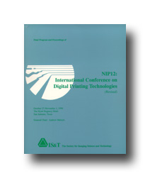 NIP12: Int'l Conf. on Digital  Printing Technologies