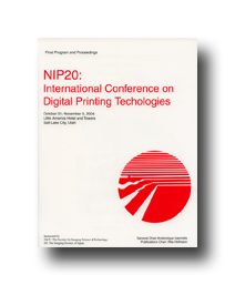 NIP20: Int'l Conf. on Digital Printing Technologies