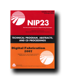 NIP23: Int'l Conf. on Digital Printing Technologies (CD)