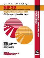NIP29: Int'l Conf. on Digital Printing Technologies