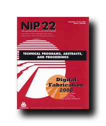 NIP22: Int'l Conf. on Digital Printing & Digital Fabrication